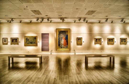art gallery during lockdown